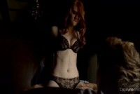 The redhead actress Deborah Ann Woll in sex scene
