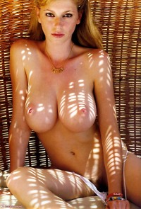 Red head tiny freckles huge boobs