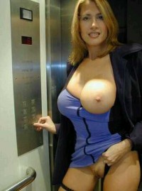 pure mature public nudist show her amazing natural big tits
