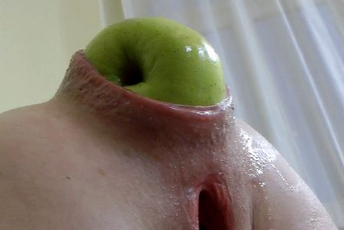 Apple in ass anal insertion gusta anal