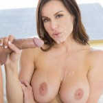 Kendra Lust facialized