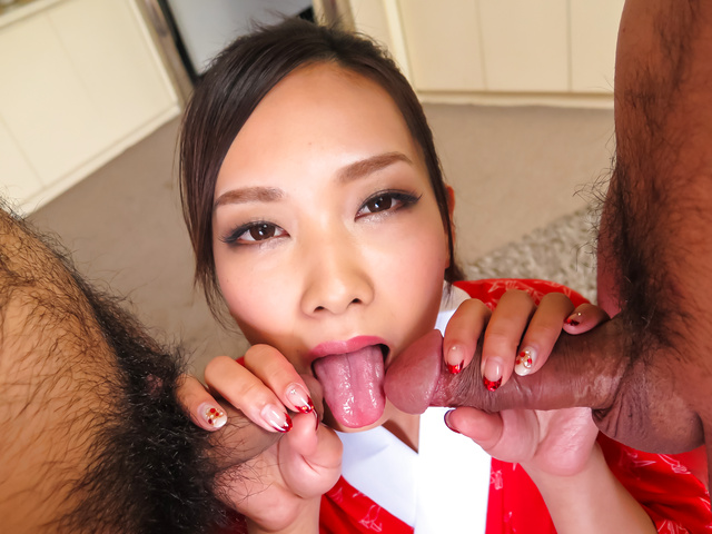 Asian cum in mouth