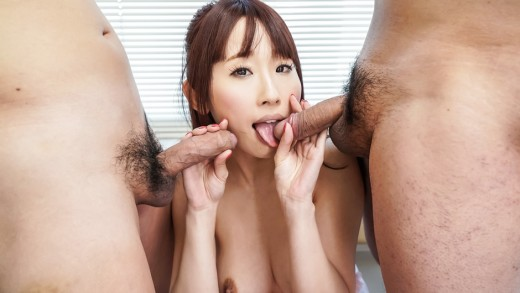 Threesome asian blow job with Yui Misaki  on javHD.com