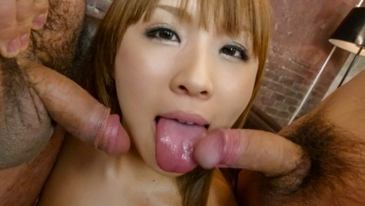 Hot Japanese blowjobs by naughty model