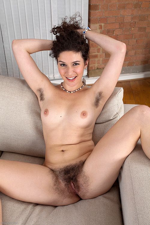 Heavy hairy brunette naked