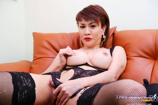 Big tits and a Big cock on a ladyboy