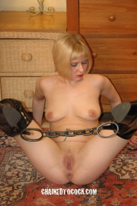 Chained to cock and loving it!