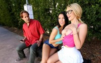 Bus Stop Lesbians Blake Eden, Megan Rain – HDpornstarz