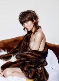 Grace Hartzel nude tits on a bed