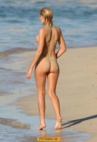 Orlaith McAllister nude on a beach in Majorca