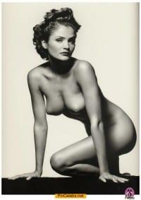 Helena Christensen nude black-&-white image