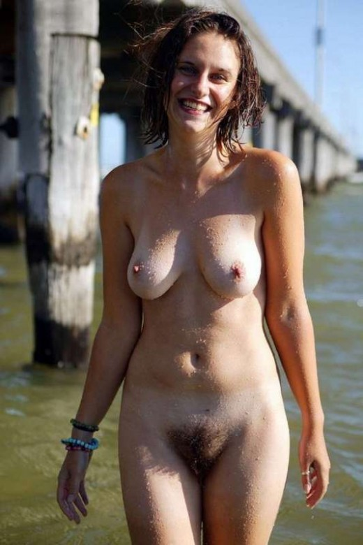 nude mature on the beach