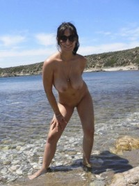 Italian amateur Milf on the beach