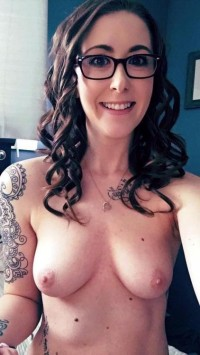 Brunette Wife has a natural boobs and sexy body