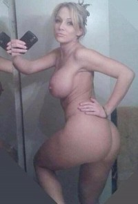 Hot blonde MILF displays her nude perfect body