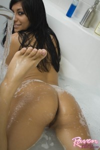Sexy Raven Riley in a bath