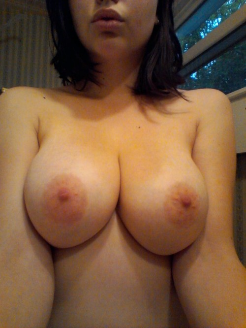 Busty amateur babe topless selfpic