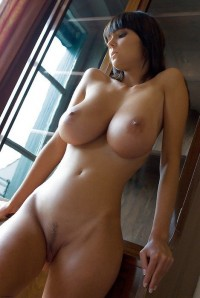 Busty brunette with cute juicy pussy