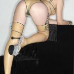 Blonde latex queen | CumDown.com