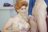 Redhead MILF Raylene loves cum all over her tits