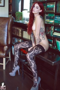 Another red hair tattooed beautiful girl with piercing | SexyAdultGifs