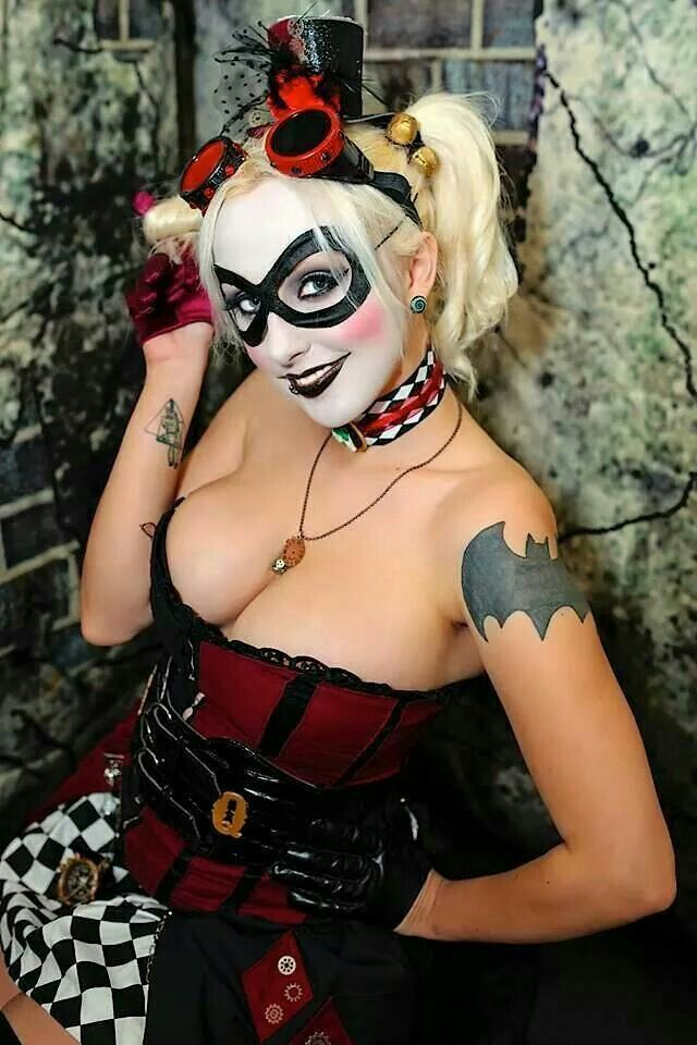 sexy naked harley quinn costume