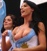 Hot girls Mondial 2014 – big tits support Argentina