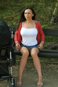Milf without panties in public