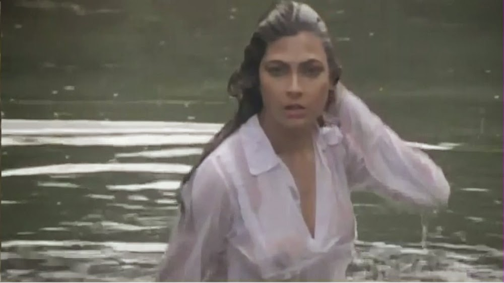Kimi Katkar Breast Showing See-Thru Wet Shirt | Tarzan | ShowMeCelebs