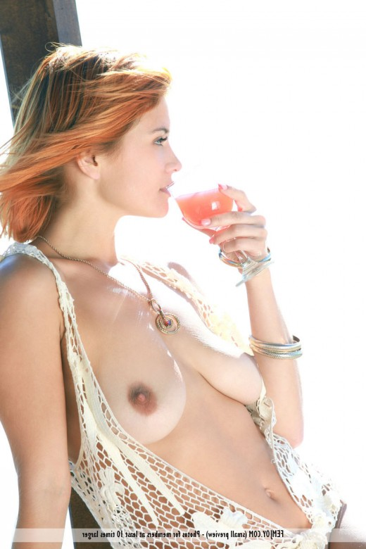 All natural busty redhead Dina P – DaChicky