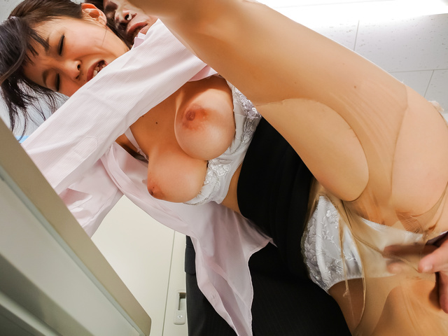 Big tits office bimbo
