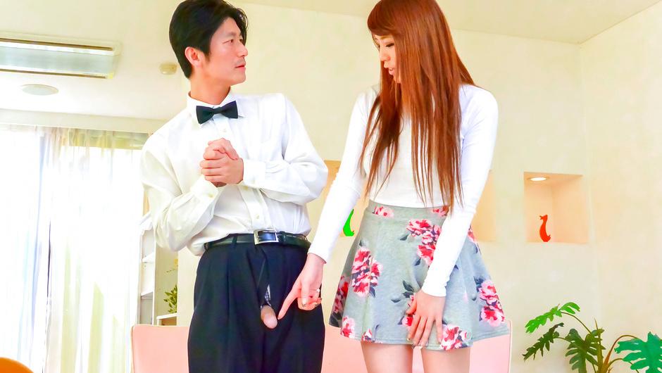 Asian dildo to please naughty babe