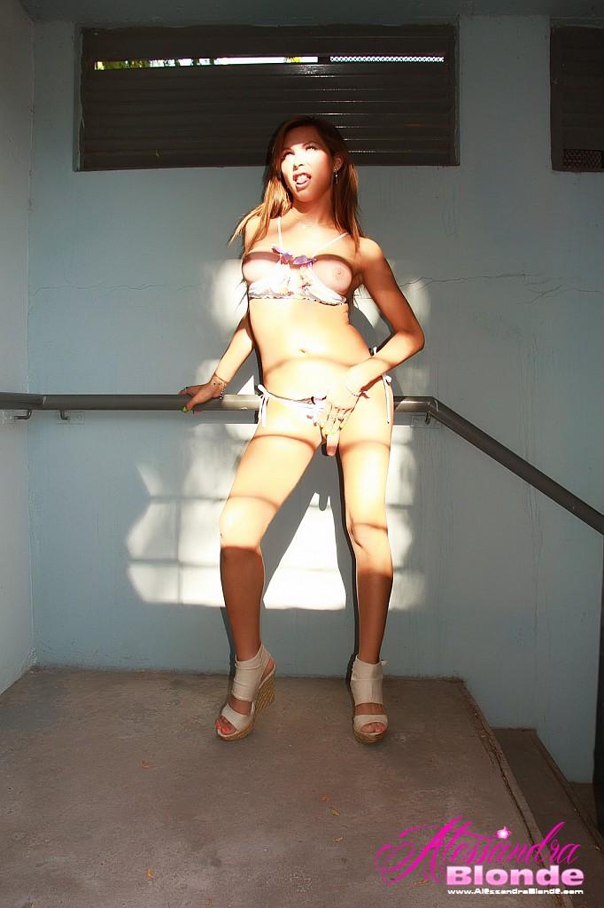 Alessandra Blonde in heels