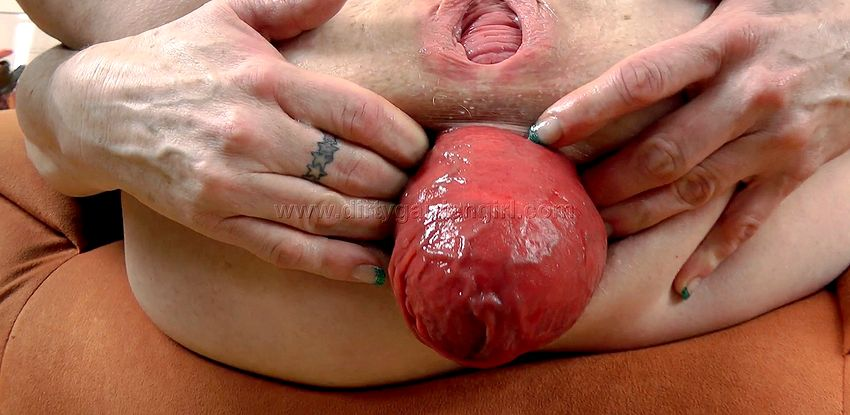 Extreme huge anal prolapse after ass destroying. Dirty Garden Girl – Donna Flower