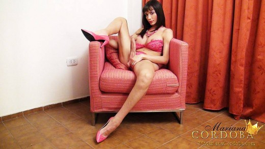 Hung Mariana Cordoba in a chair.