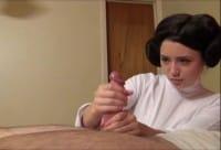 Princess Leia handjob