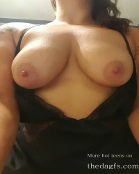 Gorgeous big tits girl in black lingerie