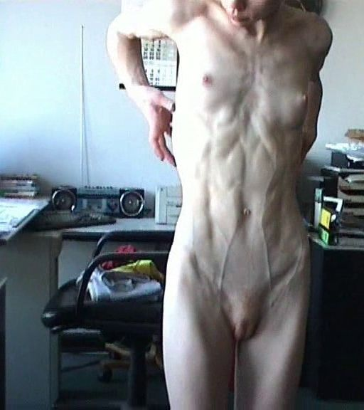 Extreme skinny girl naked