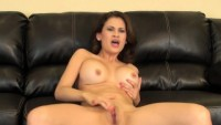 Sexy Latina Vanessa Veracruz massages her big tits and rubs her peach