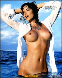 Camilla Sjoberg nude in a water