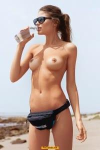 Maja Krag posing nude