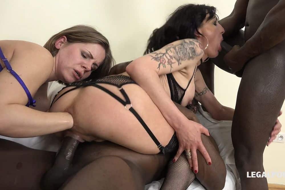Lyna Cypher and Sasha Zyma interreacial extreme orgy