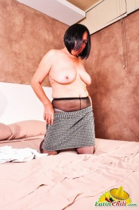 LATINCHILI Black haired milf is stripping
