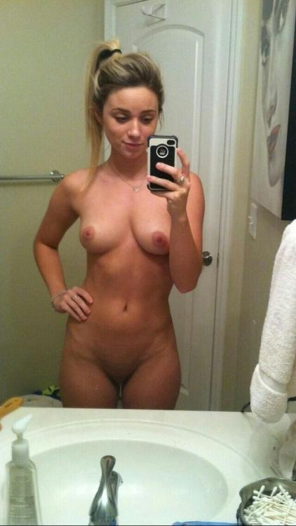 First naked photo taken in the bathroom