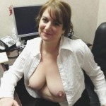 After a hard day, big breasts need to be exposed