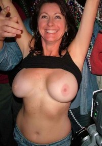 Busty and adorable amateur Milf present tits