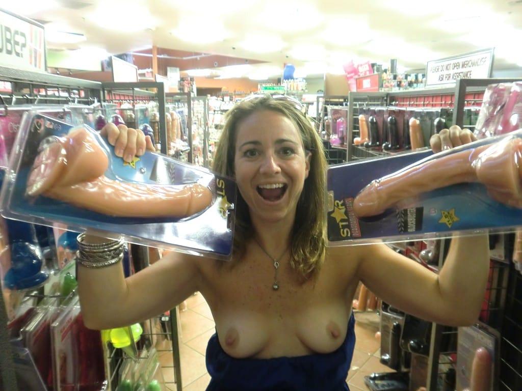 In flashing walmart boobs