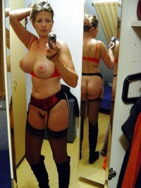 My naked wife in erotic lingerie
