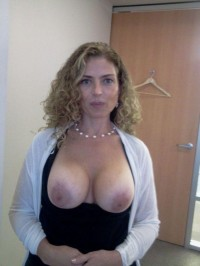 Tits out at the office