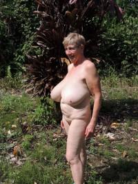 Ugly amateur woman has huge tits